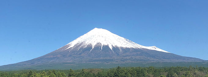 社有地より望む富士山